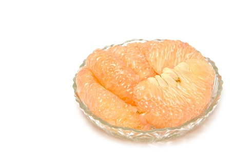pummelo: pummelo fruit,thai fruit  isolated on a white background. Stock Photo