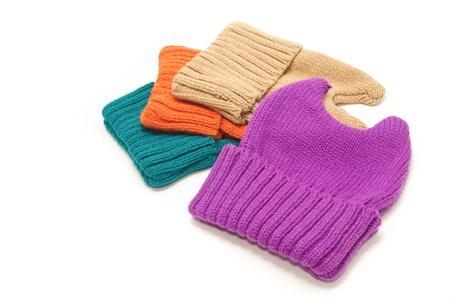 New fashion Knit Wool Hat on white background Stock Photo - 17414412