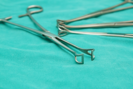 forceps: surgery instrument, Babcock Forceps on surery room