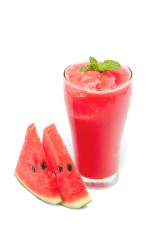 Water melon smoothie and fresh melon,isolate