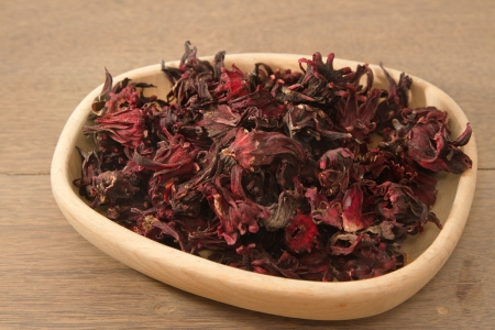 Dried rosella  (Hibiscus sabdariffa) , Hibiscus roselle tea  photo
