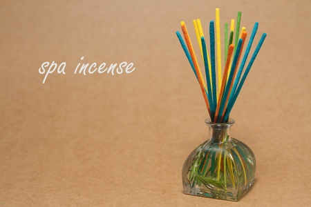 incense sticks:  Incense spa , incense sticks dipped in a aroma essential oils in a glass bottle