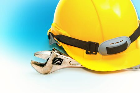 Construction Helmet with wrench photo