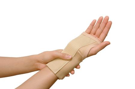 Trauma of wrist with  brace ,wrist support Stock Photo - 26201739