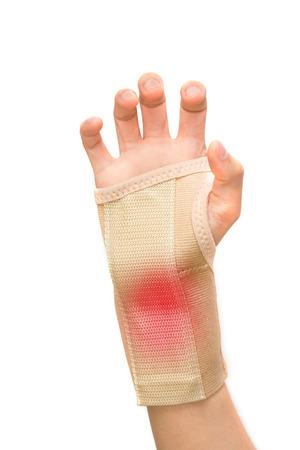 Trauma of wrist with  brace ,wrist support photo