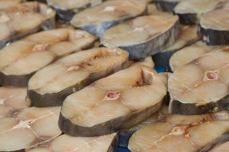 king mackerel slide on the market photo