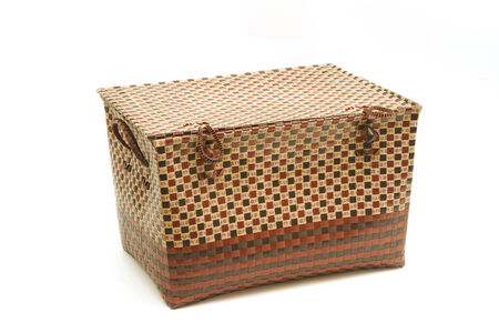 Wicker box ,Clothes basket photo