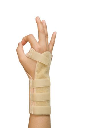 splint: splint for wrist fracture or carpel tunnel syndrome