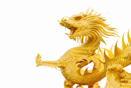 Golden gragon statue photo