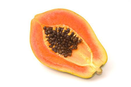 half cut: Half cut papaya fruits