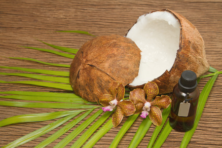 Coconut essentail oil for beauty spa photo