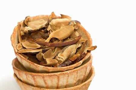lucidum: Dry Ling Zhi Mushroom, Reishi mushroom  (Ganoderma lucidum (Curtis) P. Karst )