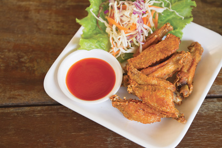 Fried Chicken Wings (Thai food delicious ) photo