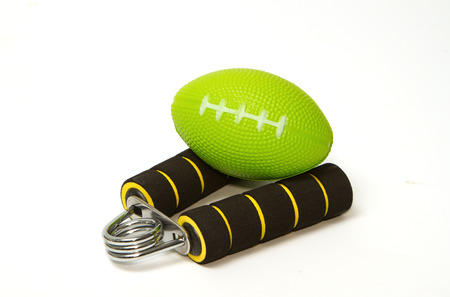 stress ball: Hand grip strengthener and stress ball for hand exercise Stock Photo
