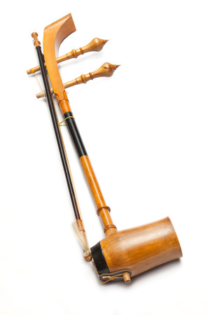 Treble fiddle or soprano Sounded string Thai music instrument photo