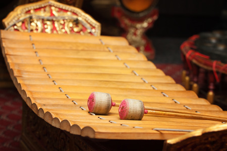 tuneful: Wooden soprano xylophone, the Thai music instrument