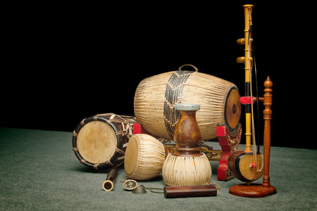 thailand art: Set of Traditional Thai musical instruments