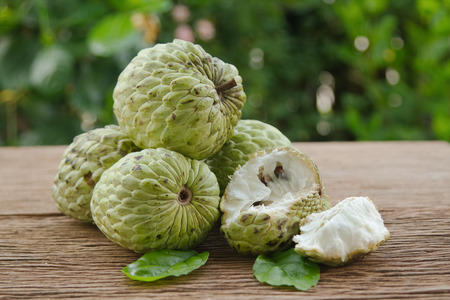 custard apple or sugar apple fruit Stock Photo