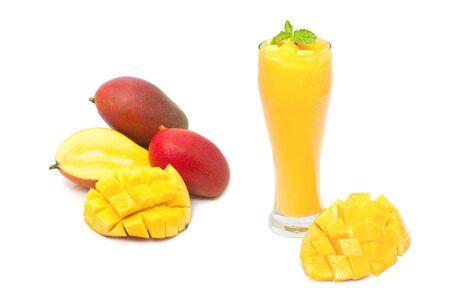 heathy diet: mango smoothie drink, healthy drink