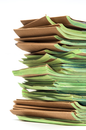 stack of paper: Pile of official papers