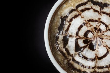 non alcoholic: Closeup Latte art coffee