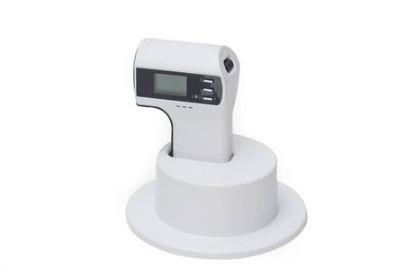digital thermometer: infrared digital thermometer ,isolate Stock Photo