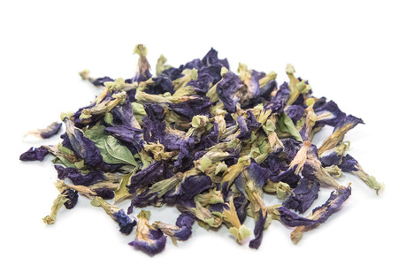 colorant: dried butterfly pea flowers to make tea