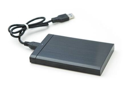 portable hard disk: external hard drive isolated Stock Photo