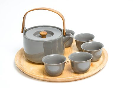 chinese tea ceremony: set of chinese tea ceremony on white background