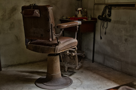 Old barber chair,retro style