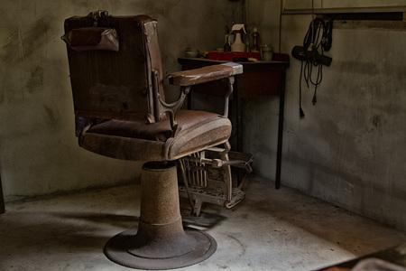 Staré holičství židle, retro styl Reklamní fotografie