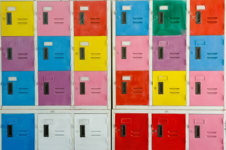 lockers: Colorful cabinet lockers background