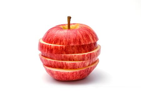 sliced apple: Sliced apple , isolate on white background
