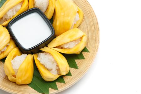 assort: Native Thai style dessert, sticky rice in jack fruit.