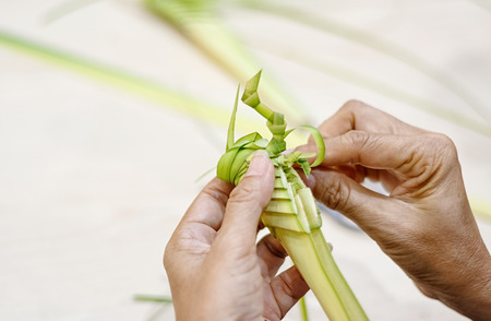 grig: Woven coconut leaves
