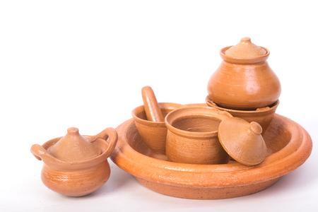 mini oven: Mini pot ,mortar and oven made by clay ,Thai handicraft souvenir