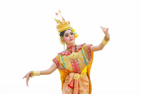 Thailand Dancing in masked khon Benjakai in literature Ramayana,Thailand Stock Photo