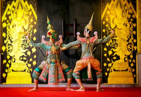 コンケン、タイ古典ラーマーヤナの叙事詩からマスクの伝統的なダンス ドラマ芸術