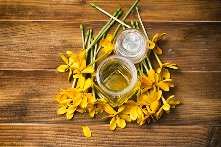 Essential oil with yellow gardenia flowers for aroma massage stock essential oil with yellow gardenia flowers for aroma massage stock photo 98776294 mightylinksfo