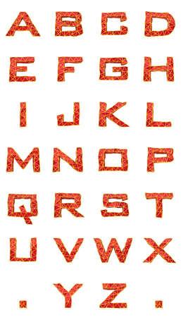isolated letters alphabet set frame on white background Stock Photo