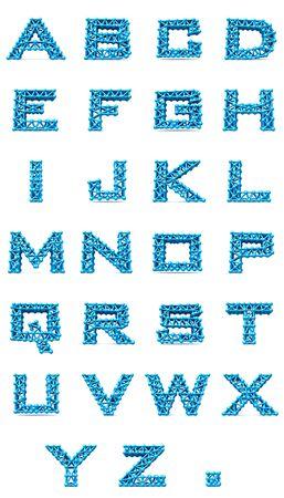 isolated letters alphabet set  on white background