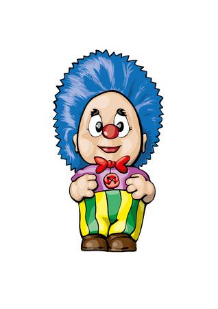 April fool`s day funny clown vector cartoon Ilustrace