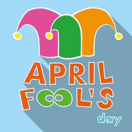jester hat: Illustration of a jester hat. April Fools Day. vector illustration