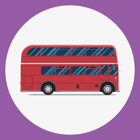 London bus sity transportation. Modern flat design. Vector illustration