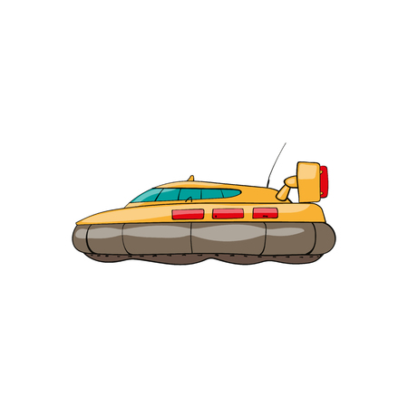 vector seamless pattern. Hand drawn water transpor. kids toy hovercraft Illustration