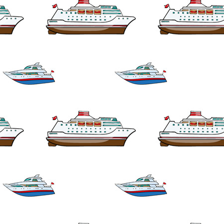 airbag: vector seamless pattern. Hand drawn water transpor. kids toy , yacht, cruise