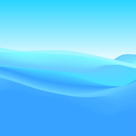 Abstract Background of Blue Waves, Vector Illustration. Illustration