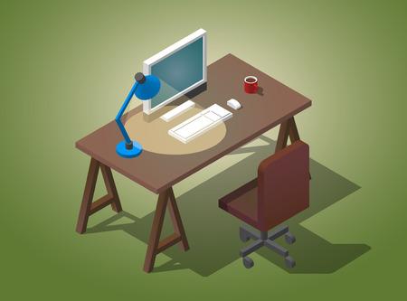 Empty desktop for work.