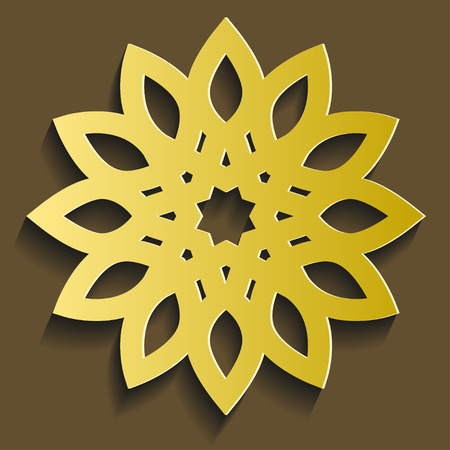 Golden flower illustration.