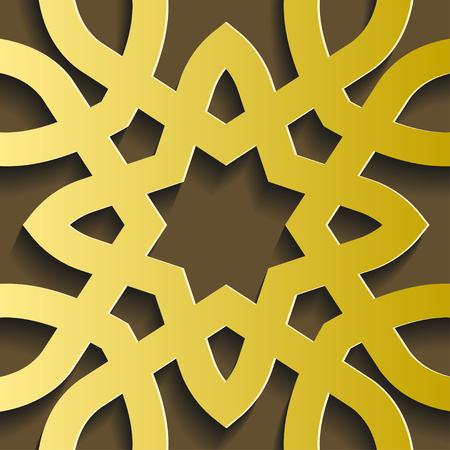 Golden flower design.